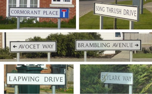 New Housing Estate Road Names