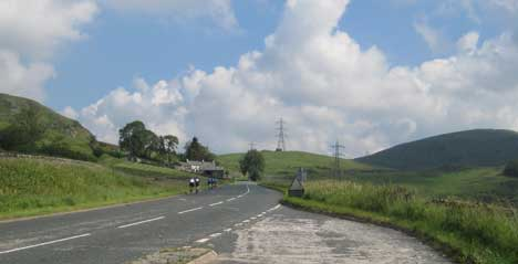 Cycling at Shap