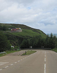 The steep hills at Barriemore in Scotland
