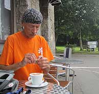 JOGLE - coffee break at Prees Cornwall