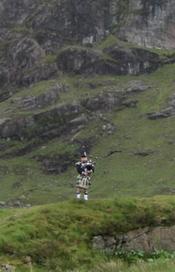 Piper at top of Glencoe