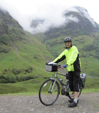 Cycling up Glencoe