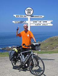 End of JOGLE - Land's End Sign