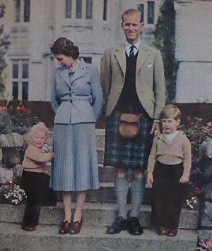 The Royal Family seen as the 1950s