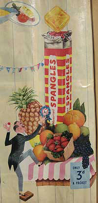 Spangles Sweets advert early 1950's