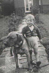 Richard Cannon with dog Rufus c.1951