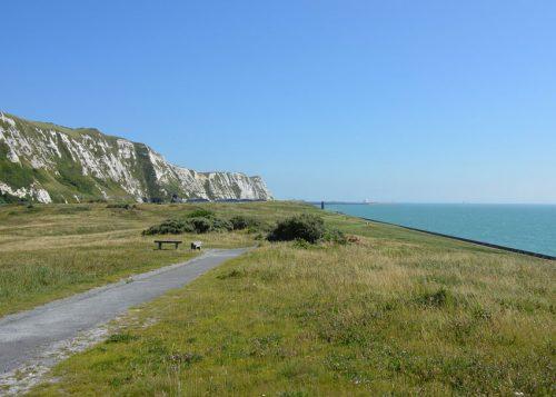 Samphire Hoe looking toward Dover