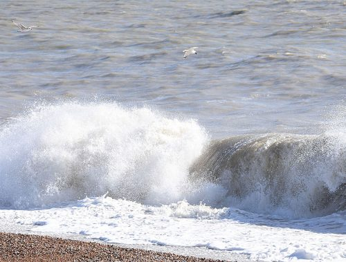 Rough Sea at Dungeness