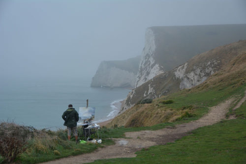 View westward from Durdle Door