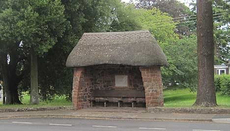 Thatched Bus Stop  in Devon